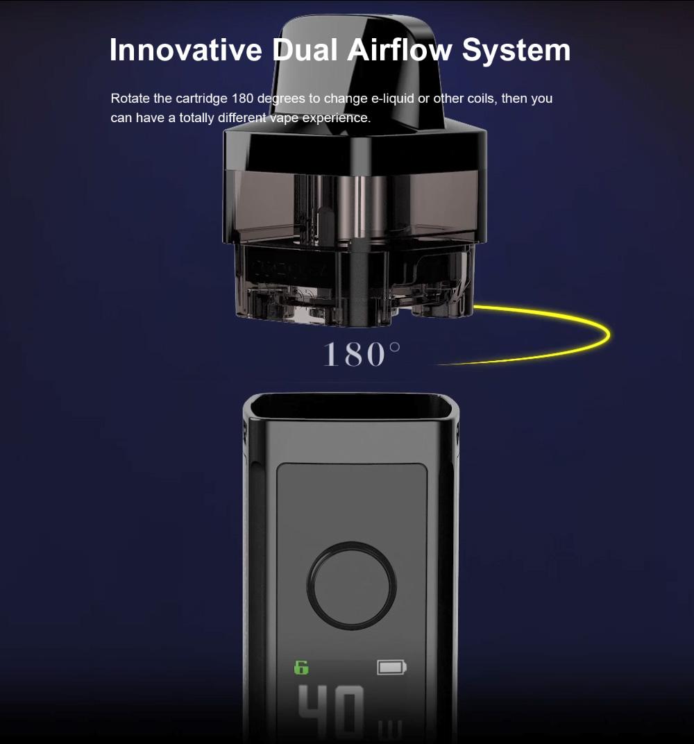 regulácia vzduchu otočením cartridge