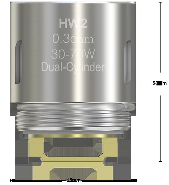 V sebe ukrýva  dve špirálky Hlava je vhodná pre režim výkonu, Bypass a Smart, nie je určená pre teplotné režimy.