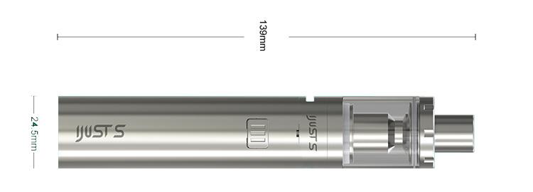 rozmery elektronickej cigarety