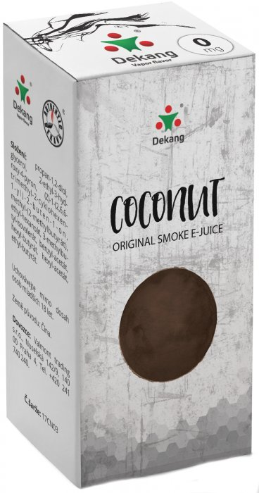 e-liquid Dekang Coconut 10ml - 0mg (Kokos)
