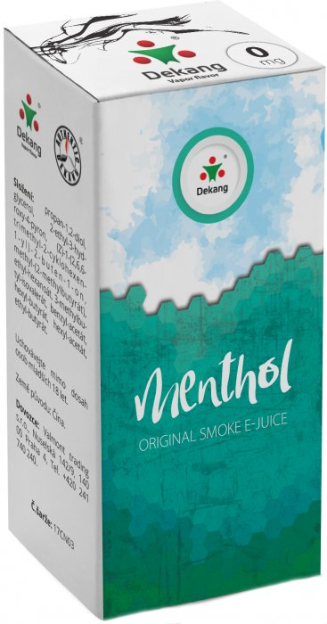 e-liquid Dekang Menthol 10ml - 0mg (Mentol)