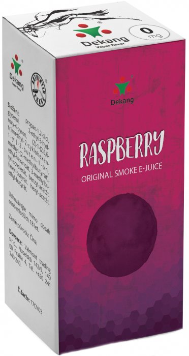 e-liquid Dekang Raspberry 10ml - 0mg (Malina)