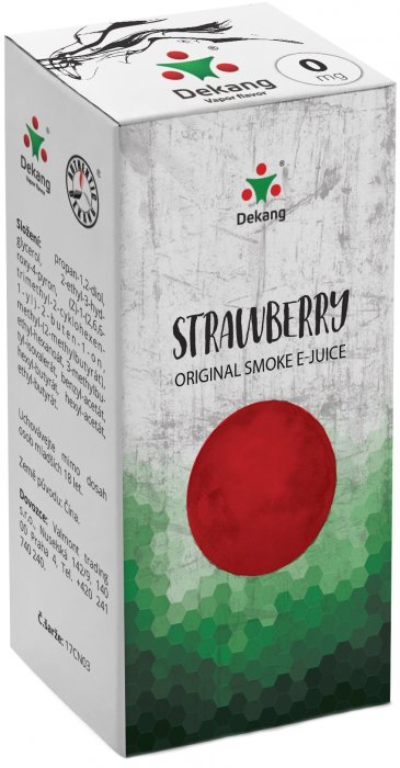 e-liquid Dekang Strawberry 10ml - 0mg (Jahoda)