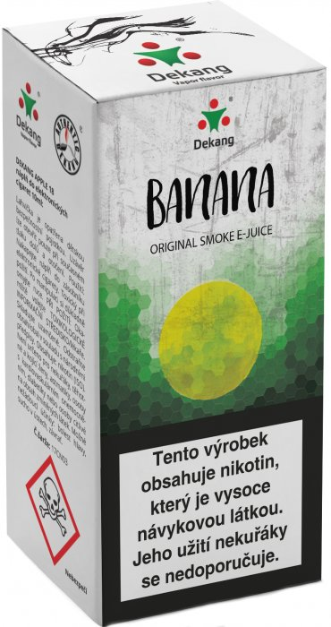 e-liquid Dekang Banana 10ml - 6mg (Banán)