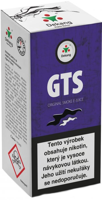 e-liquid Dekang GTS 10ml - 11mg
