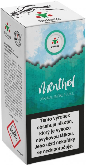 e-liquid Dekang Menthol 10ml - 18mg (Mentol)