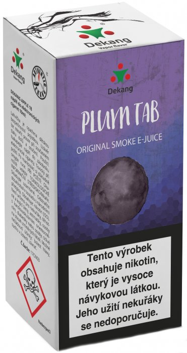e-liquid Dekang Plum Tab (sušená slivka) 10ml - 6mg