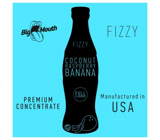 aróma pre e-liquid Big Mouth FIZZY - Coconut Raspberry Banana 10ml
