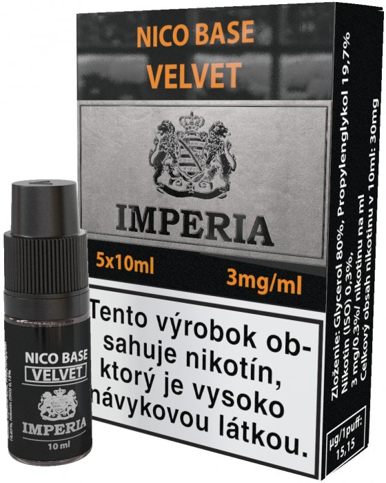 báza Imperia Velvet 20/80 5x10ml - 3mg