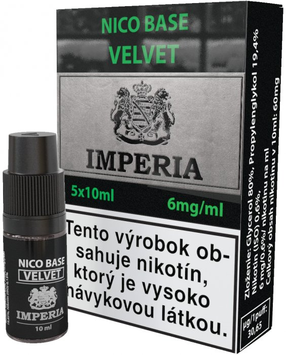 báza Imperia Velvet 20/80 5x10ml - 6mg