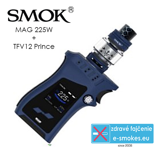 Smoktech full kit MAG TC225W s TFV12 Prince - modrý