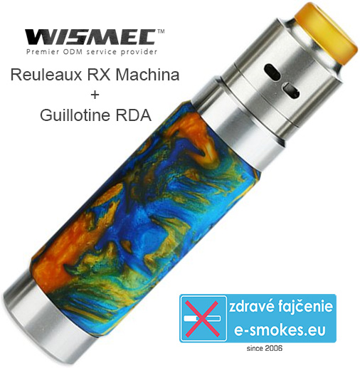 Wismec Reuleaux RX Machina grip full kit - Swirled Metallic Resin