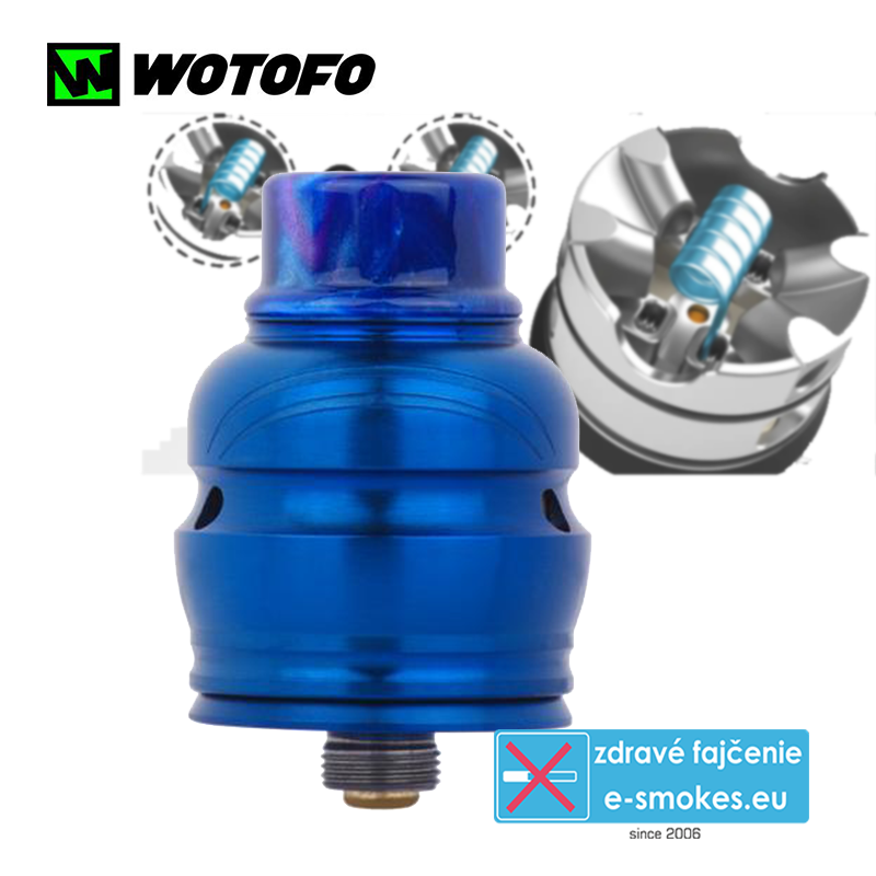 Wotofo clearomizér RDA Elder Dragon - Blue
