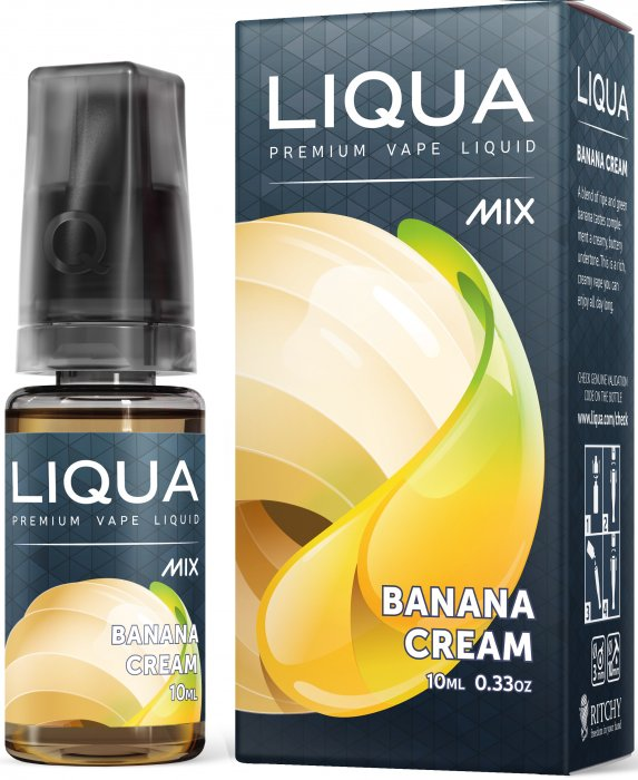LIQUA Mix Banana Cream 10ml 0mg nikotínu