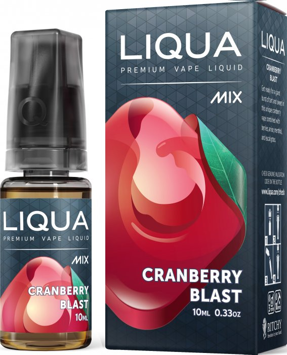 LIQUA Mix Cranberry Blast 10ml 0mg nikotínu