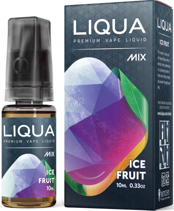 LIQUA Mix Ice Fruit 10ml 0mg nikotínu