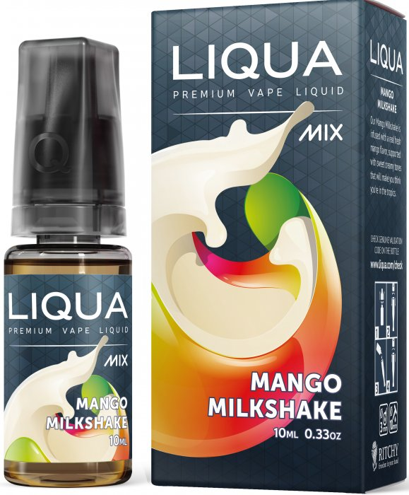 LIQUA Mix Mango Milkshake 10ml 0mg nikotínu
