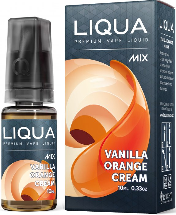 LIQUA Mix Vanilla Orange Cream 10ml 0mg nikotínu