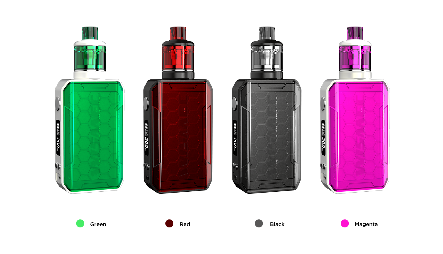 Wismec full kit Sinuous V200 - čierny