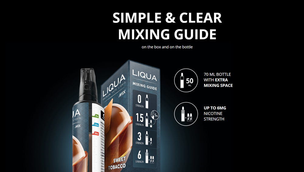 LIQUA e-liquid Mix&Go American Blend 50ml 0mg