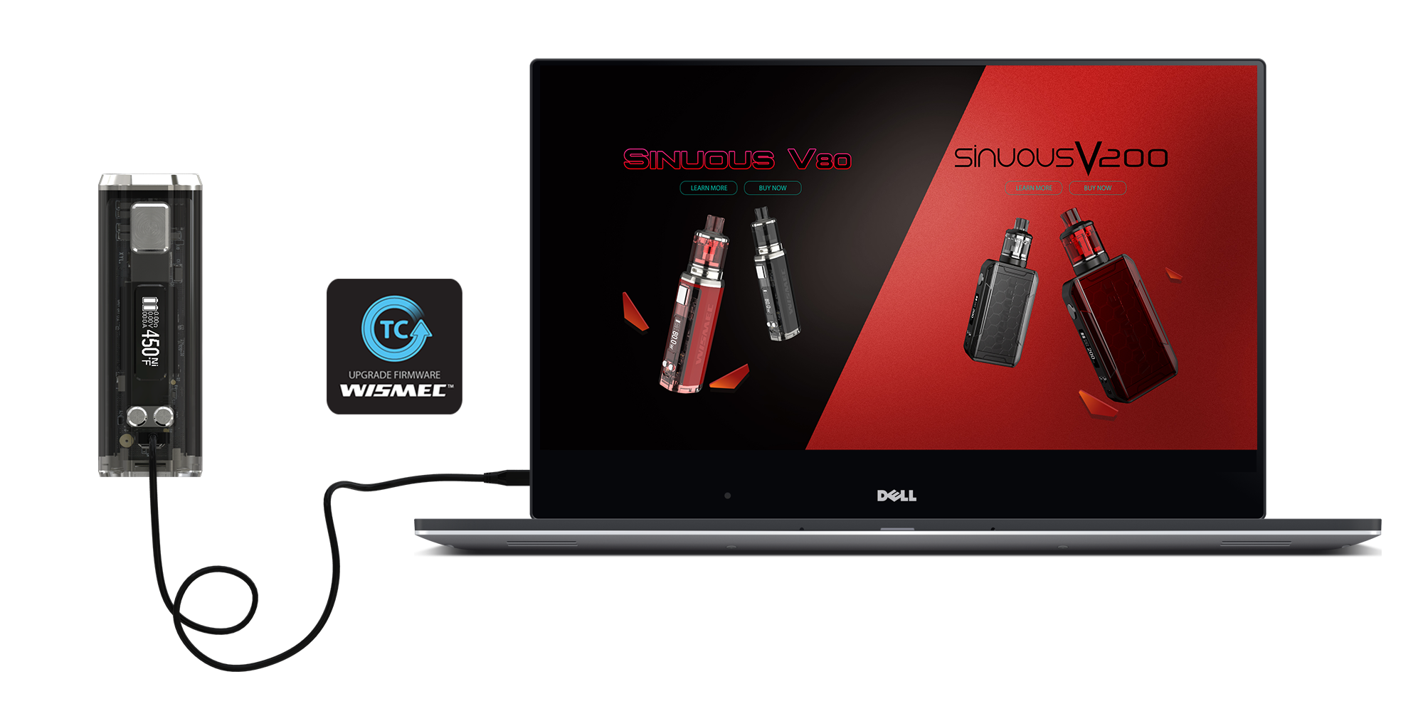 Wismec full kit Sinuous V80 - čierny