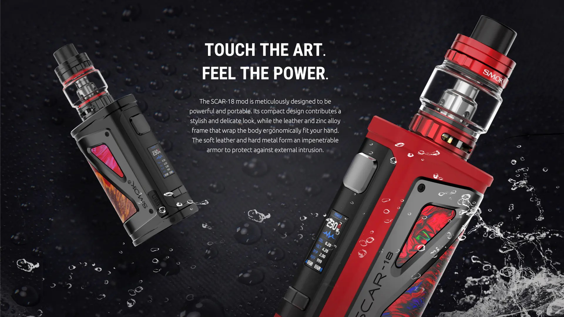 Smoktech SCAR-18 Full Kit TC230W - Black