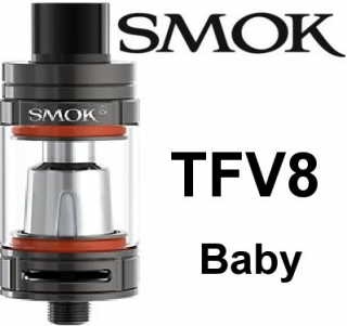 SmokTech TFV8 Baby clearomizer 3ml - gun metal