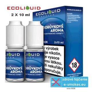 Ecoliquid e-liquid Boruvka 2 X 10ml 20mg