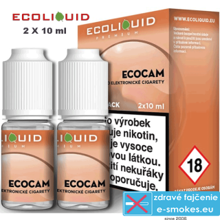 Ecoliquid e-liquid ECOCAM 2 X 10ml 18mg