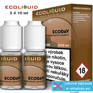 Ecoliquid e-liquid ECODAV 2 X 10ml 6mg