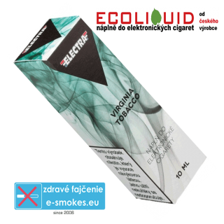 e-liquid Electra Virginia tobacco 10ml 6mg