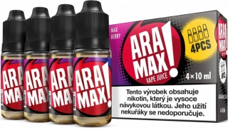 ARAMAX 4Pack Max Berry 4x10ml 6mg