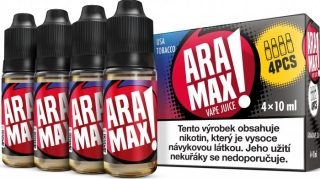 ARAMAX 4Pack USA Tobacco 4x10ml 3mg
