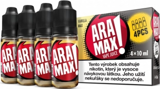 ARAMAX 4Pack Vanilla Max 4x10ml 18mg