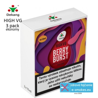 Dekang High VG 3Pack Berry Burst 3x10ml 6mg