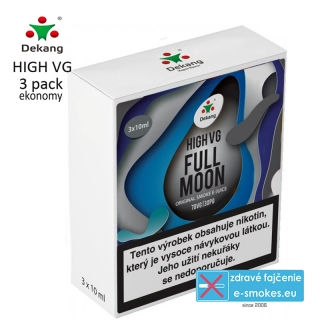 Dekang High VG 3Pack Full Moon 3x10ml 6mg