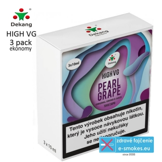 Dekang High VG 3Pack PEARL GRAPE 3x10ml 6mg