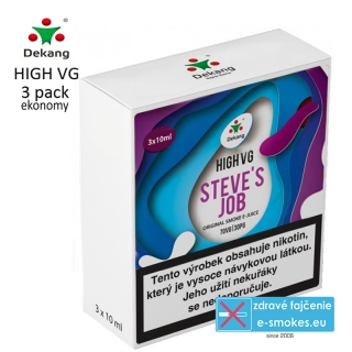 Dekang High VG 3Pack STEVE´S JOB 3x10ml 6mg