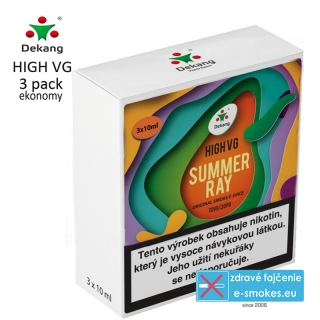 Dekang High VG 3Pack SUMMER RAY 3x10ml 1,5mg