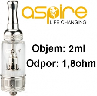 aSpire Nautilus Mini BVC clearomizer 2 ml 1,8 ohm - číry