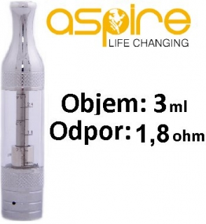 aSpire ET Victory BVC clearomizer 3ml 1,8 ohm - číry