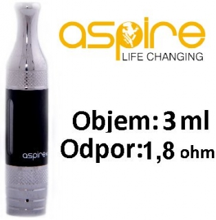 aSpire ET-S Victory BDC clearomizer 3ml 1,8 ohm - čierny