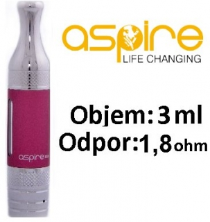 aSpire ET-S Victory BDC clearomizer 3ml 1,8 ohm - červený