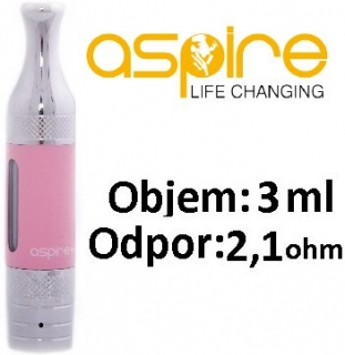 aSpire ET-S Victory BDC clearomizer 3ml 2,1 ohm - ružový