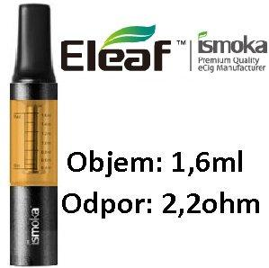 iSmoka - Eleaf mini BCC clearomizer 1,6 ml 2,2 ohm - žlto-čierny