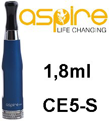 aSpire CE5-S BDC clearomizer 1,8 ml 1,8 ohm - modrý
