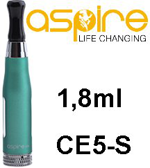 aSpire CE5-S BDC clearomizer 1,8 ml 1,8 ohm - zelený