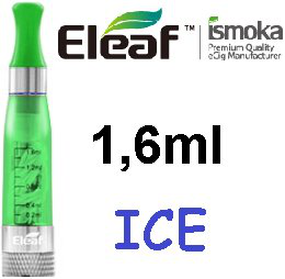 iSmoka - Eleaf ICE clearomizer 1,6 ml 2,4 ohm - zelený