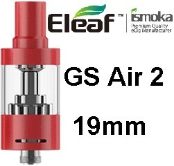iSmoka - Eleaf clearomizérGS Air2 19 mm 2,5 ml 0,75 ohm - červený