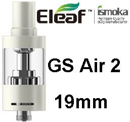 iSmoka - Eleaf clearomizérGS Air2 19 mm 2,5 ml 0,75 ohm -biiely